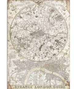 PAPIER DE RIZ A4 LADY VAGABOND LONDON GUIDE - 21 X 29.7 - DFSA4521 - STAMPERIA