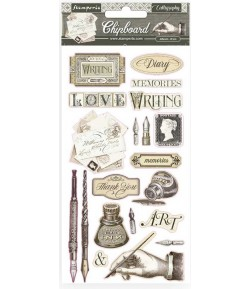 CHIPBOARD CALLIGRAPHY 15X30 - DFLCB14