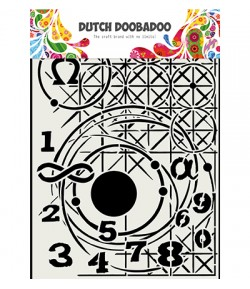 POCHOIR A4 MIXED MEDIA  - DUTCH DOOBADOO