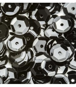 SEQUINS 6MM NOIR  - 12 GR