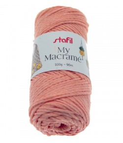 CORDON MACRAME ROSE 3 MM - 100 GR