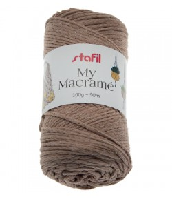 CORDON MACRAME CAFE 4 MM - 100 GR