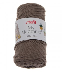 CORDON MACRAME MARRON  4 MM - 100 GR
