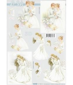 FEUILLE 3D LES MARIES 416985