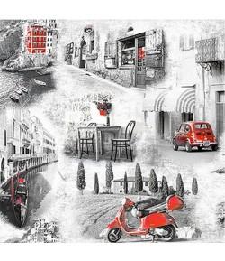 SERVIETTE RUE ITALIENNE
