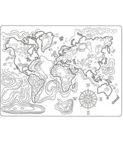 MOULE PVC FLEXIBLE - MAP OF THE WORLD K3PTA544