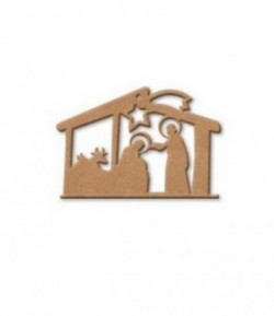 PLAQUE CRECHE EN MEDIUM 13.1X12CM