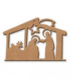 PLAQUE CRECHE EN MEDIUM 25X17.5CM