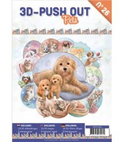 BLOC 3D A4 + PAPIERS -  PETS N°26