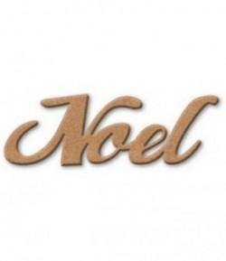 PLAQUE NOEL EN MEDIUM 24X8.5CM