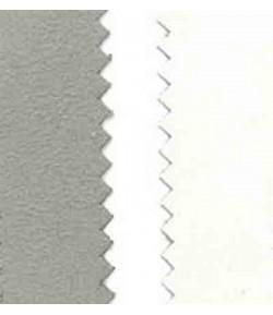 SUEDINE DOUBLE FACE GRIS CLAIR / BLANC- 50 X 70 CM