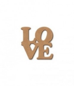 PLAQUE LOVE EN MEDIUM 9.3X10 CM