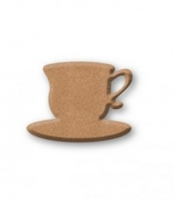 PLAQUE TASSE EN MEDIUM 7X5.2CM