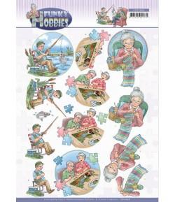 FEUILLE 3D FUNKY HOBBIES - CD11606