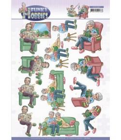 FEUILLE 3D FUNKY HOBBIES - CD11607