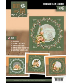 KIT COMPLET FEUILLES 3D ROMANTIC ROSES COLOUR 5