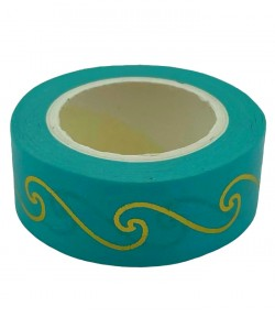 MASKING TAPE VAGUES OR TURQUOISE X 10 M