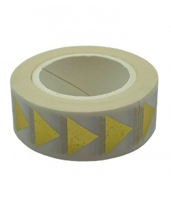 MASKING TAPE BLANC TRIANGLES OR X 10 M