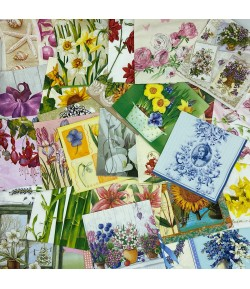 LOT DE 30 SERVIETTES THEME FLEURS - 06