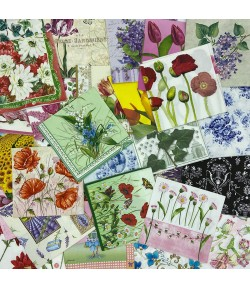 LOT DE 30 SERVIETTES THEME FLEURS - 08