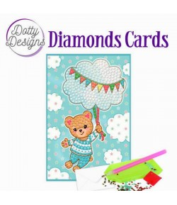 MINI KIT CARTE DIAMONDS BLUE BABY BEAR 10X15CM