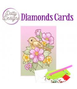 MINI KIT CARTE DIAMONDS BIRD 10X15CM