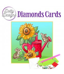 MINI KIT CARTE DIAMONDS SUNFLOWERS 15X15CM