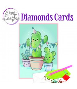 MINI KIT CARTE DIAMONDS CACTUS 10X15CM