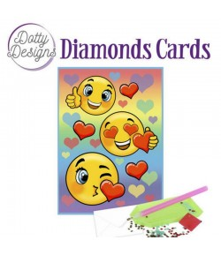 MINI KIT CARTE DIAMONDS SMILEYS 10X15CM