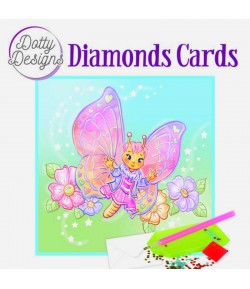 MINI KIT CARTE DIAMONDS BUTTERFLY 15X15CM