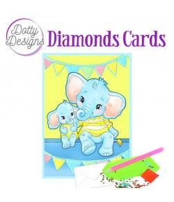 MINI KIT CARTE DIAMONDS ELEPHANTS 10X15CM