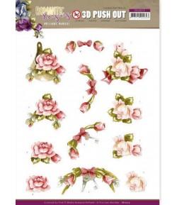 FEUILLE 3D ROMANTIC ROSES - SB10515