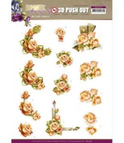 FEUILLE 3D ROMANTIC ROSES - SB10516