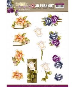 FEUILLE 3D ROMANTIC ROSES - SB10518