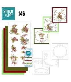 KIT 3D A BRODER PRETTY FLOWERS - STDO146