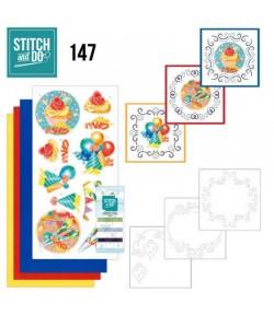 KIT 3D A BRODER HAPPY BIRTHDAY - STDO147