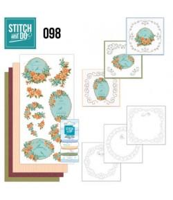 KIT 3D A BRODER FLORAL CAGES - STDO098