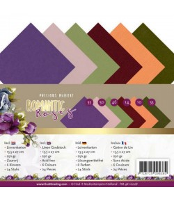 24 CARTES A5 13.5X27CM ROMANTIC ROSES - 10028