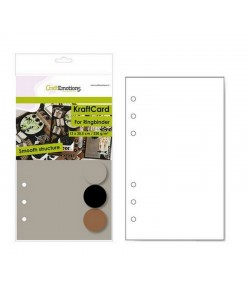 PAGES PLANNER - A5 12 X 20.5 CM -NOIR/KRAFT/ GRIS X 12