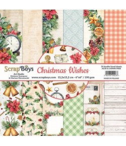 BLOC 24 FEUILLES 15 X 15 CM -  CHRISTAMS WISHES