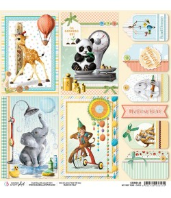PAPIER MY FIRST YEAR CARDS CIAO BELLA 30.5X30.5CM CBSS143