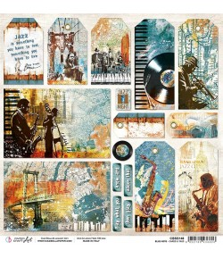 PAPIER BLUE NOTE CARDS & TAGS CIAO BELLA 30.5X30.5CM CBSS148