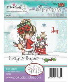 TAMPON MERRY & BRIGHT - POLKADOODLES - PD7965