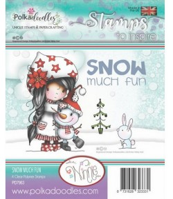 TAMPON SNOW MUCH FUN - POLKADOODLES - PD7963