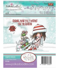 TAMPON HEARTFELT WISHES - POLKADOODLES - PD7962