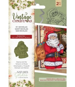 TAMPON ET DIE VINTAGE CHRISTMAS - CRAFTER'S COMPANION