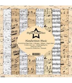 BLOC 8 FEUILLES 30.5 X 30.5 CM -  HANDWRITTEN MUSIC