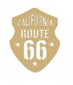 ROUTE 66 EN BOIS 5.5X7CM