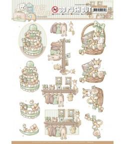 FEUILLE 3D NEWBORN - SB10519