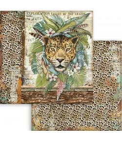 PAPIER AMAZONIA JAGUAR 30 X 30 CM - SBB763 - STAMPERIA